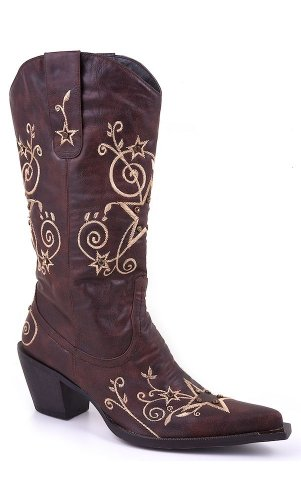 Roper Women's Stars and Stones Western Boot,Brown,9 M US