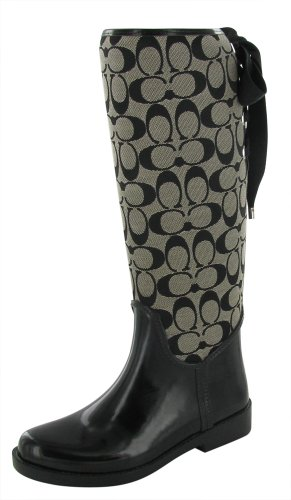 Coach Tristee A7431 Women's Fur Lined Rain Boots Riding Boots Size 11