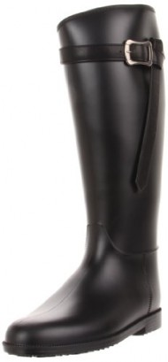 Dirty Laundry Women's Riff Raff PVC Rain Boot, Black, 9 M US