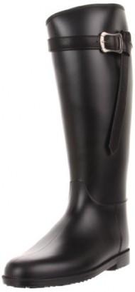Dirty Laundry Women's Riff Raff PVC Rain Boot, Black, 9 M US
