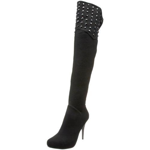 Nina Women's Luela Boot,Black/Black,11 M US