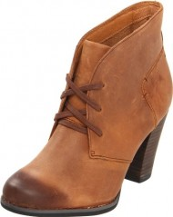 Clarks Women's Heath Wren Bootie,Brown Oily Leather,10 M US