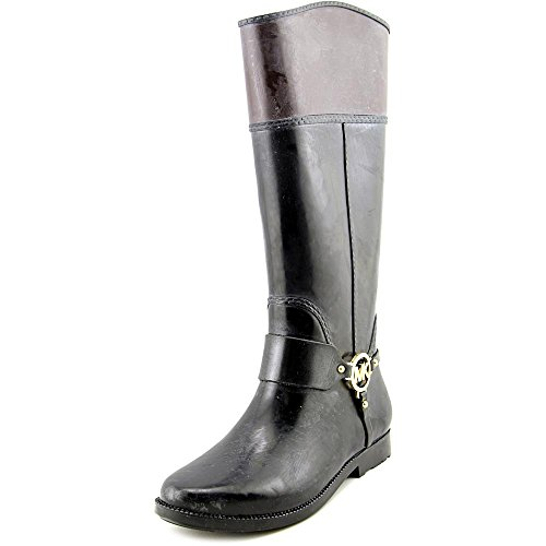 Michael Michael Kors Fulton Harness Tall Rainboot Womens Size 6 Black