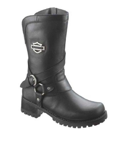 Harley-Davidson Women's Amber Water Resistant Motorcycle Boot ,Black,9.5 M US