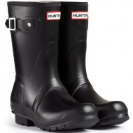 Women's Hunter Boots Original Short Snow Rain Boots Water Boots Unisex – Black – 7