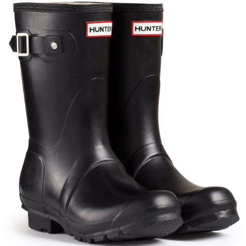 Women's Hunter Boots Original Short Snow Rain Boots Water Boots Unisex – Black – 7