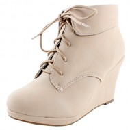 Top Moda Womens Max-35 Wedge Ankle Booties
