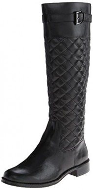 A2 by Aerosoles Women's High Riding Boot,Black Quilted,9.5 M US