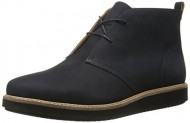 Clarks Women's Glick Willa Chukka Boot, Navy Nubuck, 8 M US