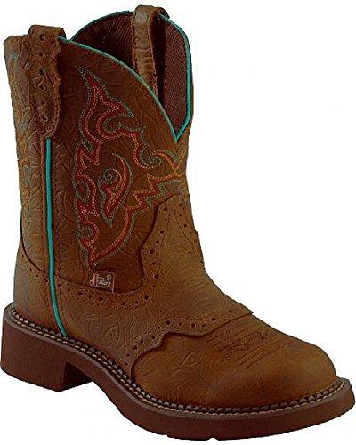 Justin Gypsy Womens 8″ Boot, 8 Brown Orange