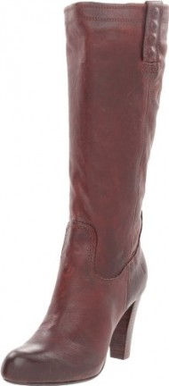 FRYE Women's Miranda Stud Tall Boot, Dark Brown, 8.5 M US