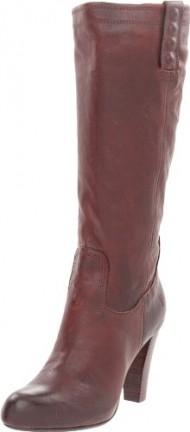 FRYE Women's Miranda Stud Tall Boot, Dark Brown, 8.5 M US