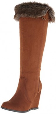Qupid Women's Noya 01 Winter Boot, Dark Rust, 9 M US