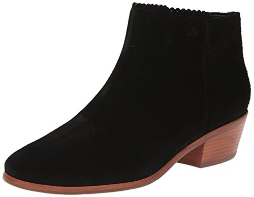 Jack Rogers Women's Bailee Suede Boot, Black, 9.5 M US