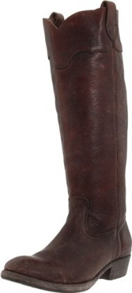 FRYE Women's Carson Lug Riding Boot, Dark Brown Stone Antique, 5.5 M US