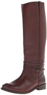 FRYE Women's Shirley Riding Plate Boot, Chocolate, 8 M US