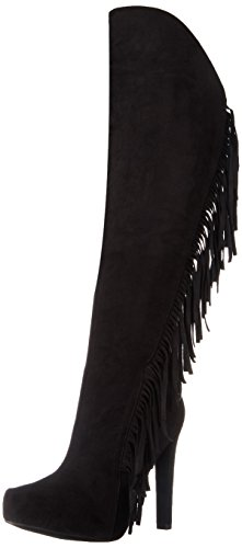 Qupid Women's Rida 09X Western Boot, Black, 10 M US