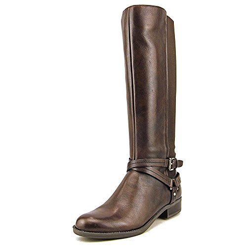 Tommy Hilfiger Women's Sienna Roast Espresso Leather/Stretch Combo Boot 8.5 M