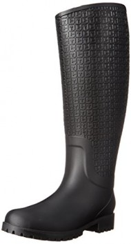 Tommy Hilfiger Women's Raindrop Black Boot 9 M