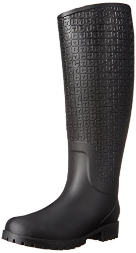 Tommy Hilfiger Women's Raindrop Black Boot 9 M