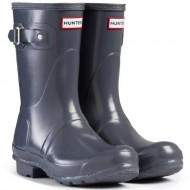Women's Hunter Boots Original Short Gloss Snow Rain Boots Water Boots Unisex – Graphite – 8