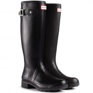 Womens Hunter Original Tour Rain Winter Snow Festival Wellington Boots – Black – 7