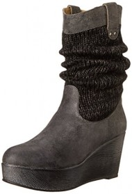 Muk Luks Women's Quinn Winter Boot, Charcoal, 7 M US