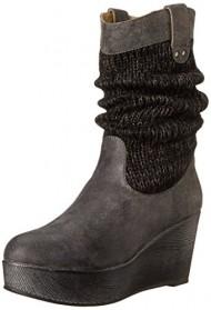 Muk Luks Women's Quinn Winter Boot, Charcoal, 7 M US