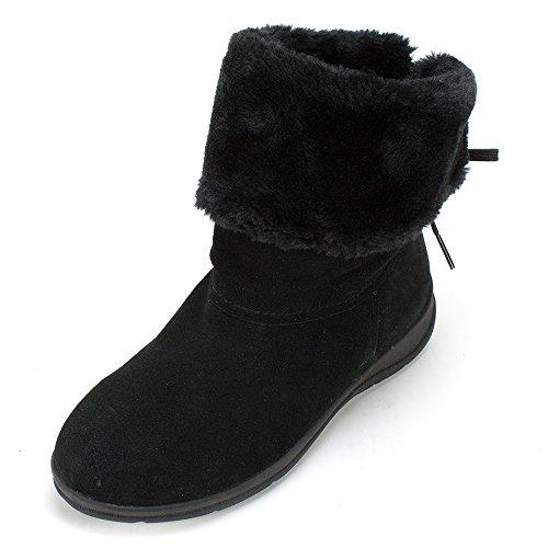 White Mountain Women's Thumper Snow Boot,Black,8 M US