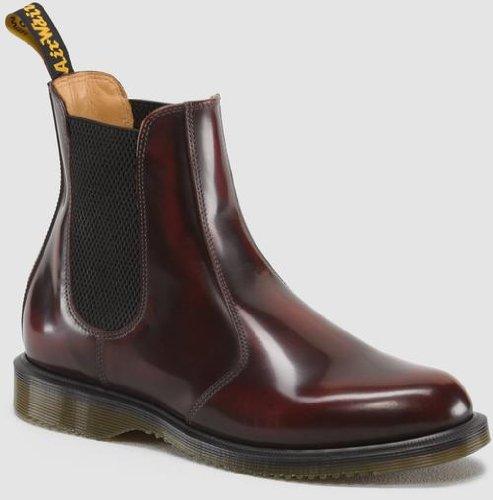 Dr. Martens Women's Flora Ankle Boot,Burgundy,5 UK/7 M US