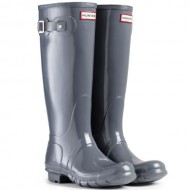 Women's Hunter Boots Original Tall Gloss Snow Rain Boots Water Boots Unisex – Graphite – 9