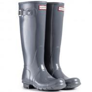 Women's Hunter Boots Original Tall Gloss Snow Rain Boots Water Boots Unisex – Graphite – 9