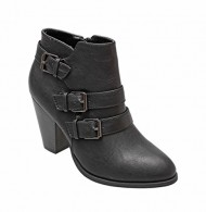 Titan Mall Forever Camila-64 Womens Fashion Chunky Heel Buckled Strap Ankle Booties (7.5 B(M) US, Black)