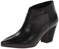Belle by Sigerson Morrison Women's Yulene Chelsea Boot,Leather Black/Elastic,8 M US
