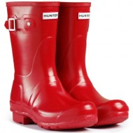 Women's Hunter Boots Original Short Gloss Snow Rain Boots Water Boots Unisex – Pillar Box Red – 6
