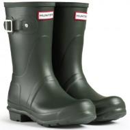 Women's Hunter Boots Original Short Snow Rain Boots Water Boots Unisex – Dark Olive – 10