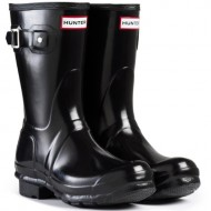 Women's Hunter Boots Original Short Gloss Snow Rain Boots Water Boots Unisex – Black – 10