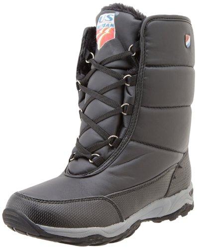 Khombu Women's Skiteam K Cold Weather Boot, Black, 8 M US