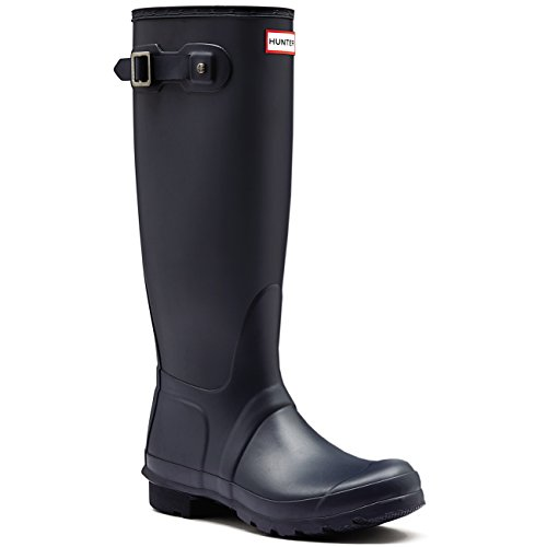 Womens Hunter Original Wide Fit Rainboots Waterproof Snow Wellingtons – Navy – 10