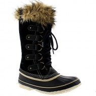Womens Sorel Joan Of Arctic Snow Waterproof Winter Boots Mid Calf Rain – Black – 9