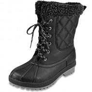 London Fog Womens Swanley Cold Weather Snow Boot Black 6 M US