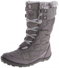 Columbia Women's Minx Mid II Omni-Heat Winter Boot, Shale/Bright Red, 7 M US