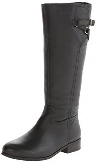 Trotters Women's Lucky Riding Boot,Black,9 W US