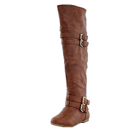 Top Moda Night-79 Riding Boots,9 B(M) US,Tan Pu