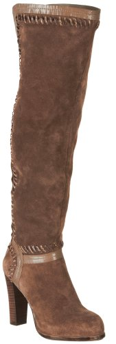 Carlos by Carlos Santana Women's Marina,Taupe Suede/Snake Print Whipstich,US 9.5 M
