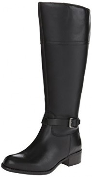 Franco Sarto Women's Corda Wide Calf Riding Boot, Black, 8 Medium/Wide US