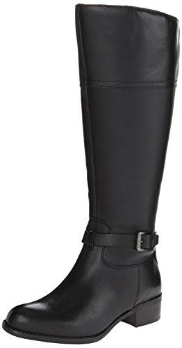Franco Sarto Women's Corda Wide Calf Riding Boot, Black, 8 Medium/Wide US