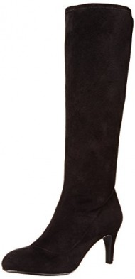 BCBGeneration Women's BG-russo Winter Boot, Black Suede Stretch, 7.5 M US