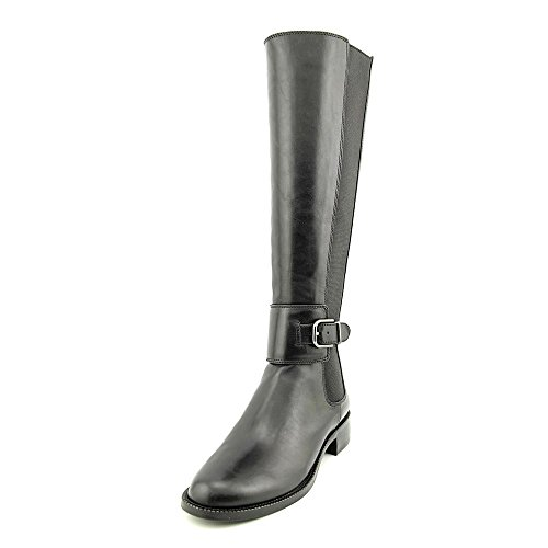 Via Spiga Women's Bufu Riding Boot,Black,8 M US