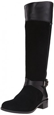 Vince Camuto Women's Jaran Riding Boot, Black Verona/Silky, 9 M US
